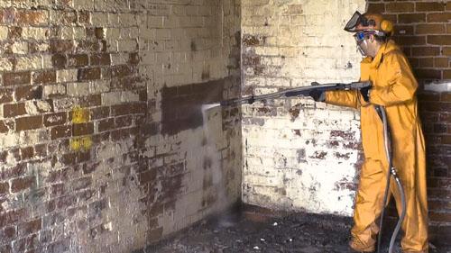 Очистка кирпича после пжара